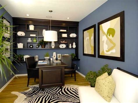 warm home office decor ideas with enchanting wall color