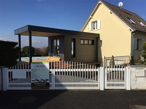 agrandissement cuisine sur terrasse extension avec v 233 randa abt construction bois