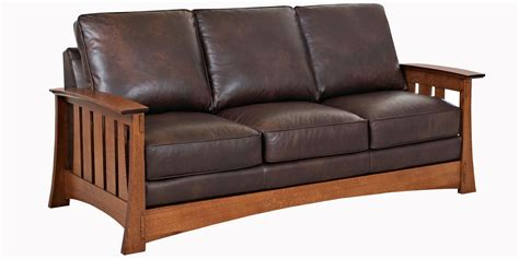 leather couch chair mission style leather pillow back chairs sofas