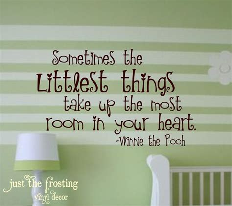 Baby Vinyl Wall Quotes childrens wall decal winnie the pooh quote vinyl lettering