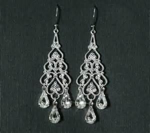 Earring Chandelier Rhinestone Chandelier Bridal Earrings Chandelier By Plumbcrazy