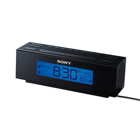 sony all in one am fm dual alarm clock radio with soothing nature sounds large easy to read