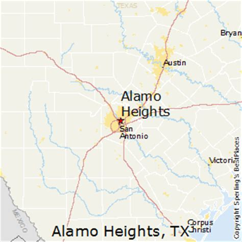 alamo texas map best places to live in alamo heights texas