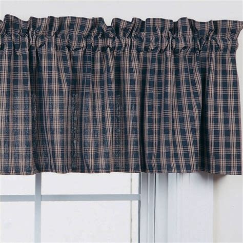 blue pattern valance country straight valance curtains sturbridge navy blue