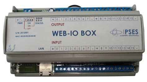 web io web io input output card with 16 inputs and 16 outputs