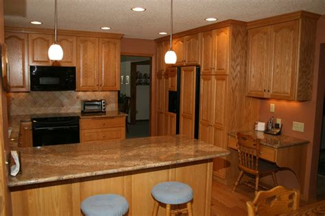 Pictures Of Oak Cabinets With Granite Countertops by Protime Construction Minneapolis St Paul Minnesota
