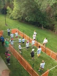 Backyard Camping Activities Human Foosball