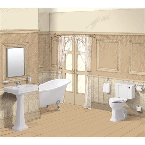 burlington bathrooms reviews burlington traditional regal 5 piece bathroom suite at