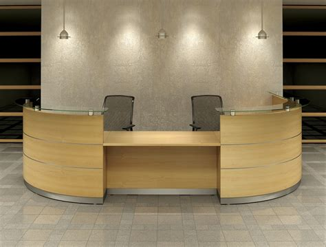 contor curved reception desk randalls office