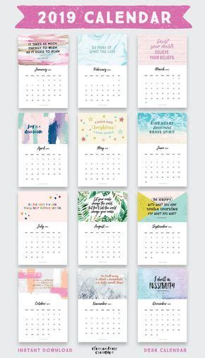 printable  inspirational quotes calendar  bonus  printable calendar calendar