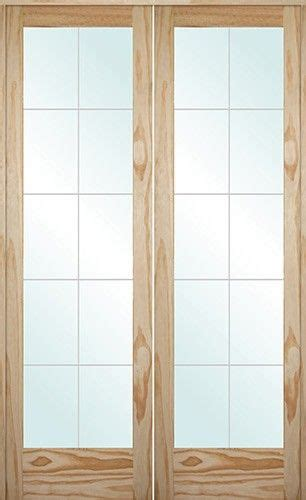 interior solid wood pine french doors   grooved