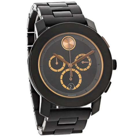 Swiss Army Sa0080 Black Ring Rosegold movado bold large mens gold accents chronograph swiss quartz 3600271 ebay