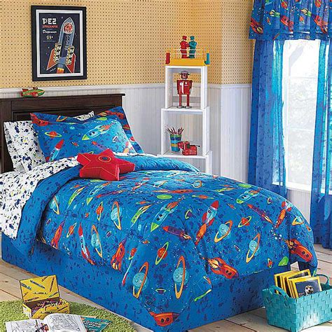 Size Comforter Set Boys Outer Space Theme Bedroom Blue Bedding Ebay 8pc Outer Space Bedding Set Planets Rockets Bed In A Bag Size