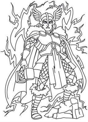 Norse Gods - Thor_image | Norse, Adult coloring book pages