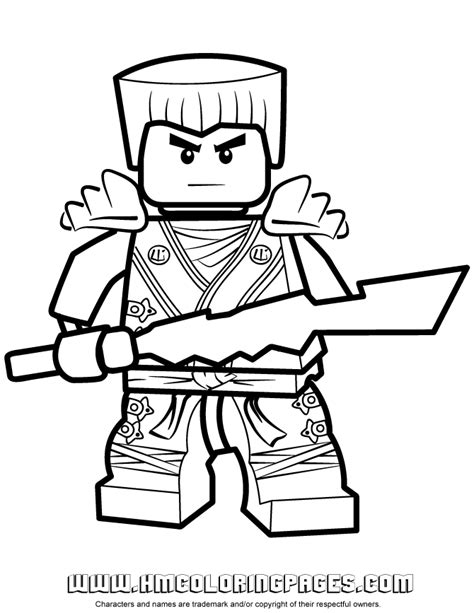 lego ninjago shadow of ronin coloring pages ausmalbilder ninjago zane 02 lego birthday pinterest