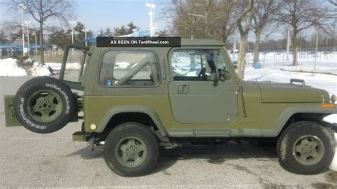 Jeep Hardtop Paint 1988 Jeep Wrangler Yj 6 Cyl Condition Fair Green Od