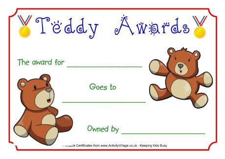 teddy birth certificate template teddy awards certificate