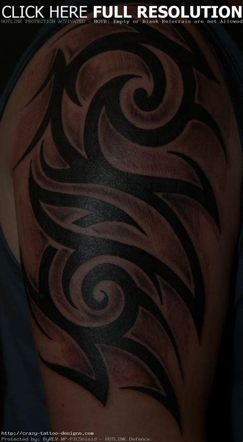 upper arm tribal tattoo tribal tattoos for guys tattoos designs ideas