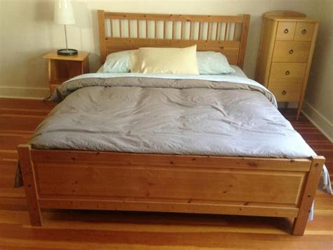hemnes bed frame oak bay