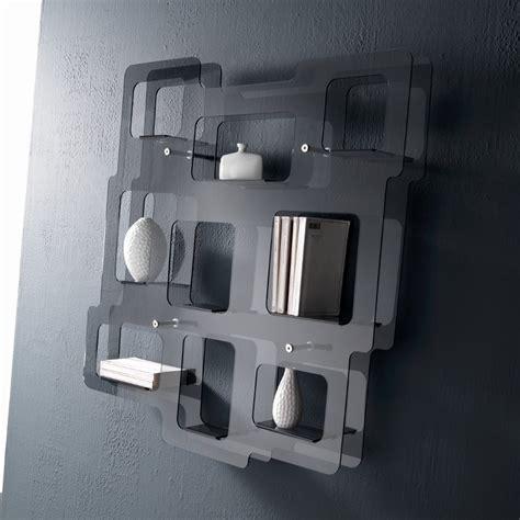 librerie da parete libreria moderna da parete in plexiglass sixty