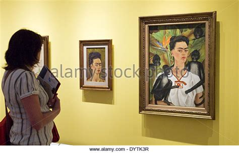 frida kahlo retrospective frida kahlo self portrait stock photos frida kahlo self portrait stock images alamy