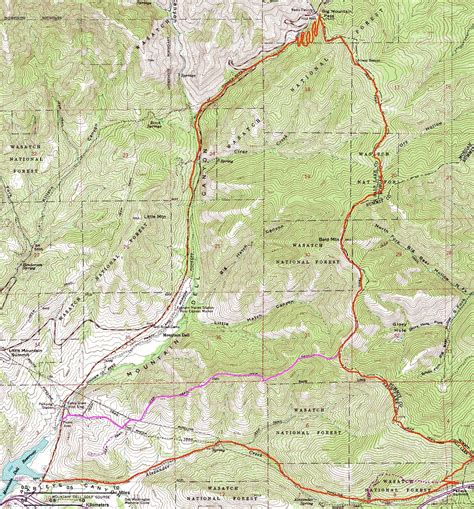 wasatch mountains map the gallery for gt cascade mountains