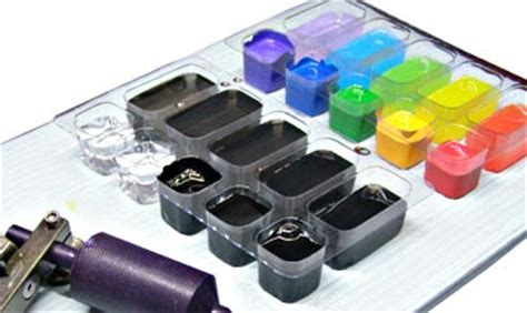 tattoo ink tray 24sk3034 wash trays for ink mixing and washes