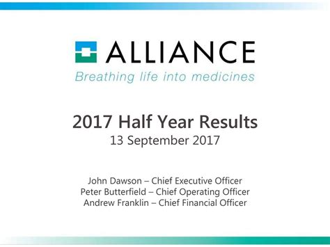 Alliance Mba Results 2017 by Alliance Pharmaceutical Corp 2017 Q2 Results Earnings