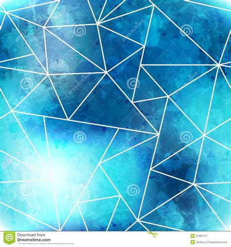 triangle pattern after effects blue triangle seamless pattern with grunge effect stock