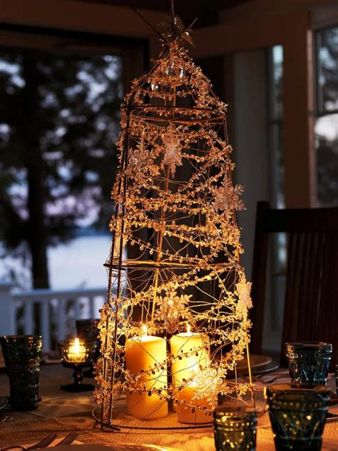xmas tree table arrengment images diy rustic decoration how tos diy