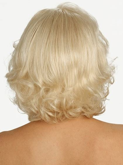 Wig Botton Curly mid length bottom layered wavy synthetic wig cheap lace front wigs p4