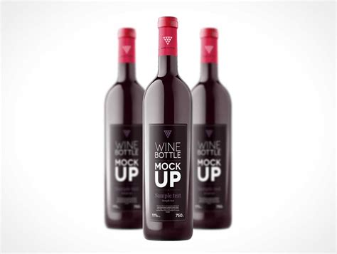 wine bottle psd mockup template psd mockups