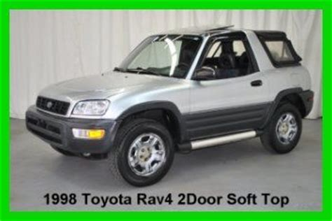 1998 Toyota Rav4 Soft Top For Sale Purchase Used 1998 Toyota Rav4 2 Door Soft Top 4wd 5 Speed