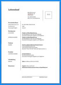 Lebenslauf Muster Tabellarisch Word 7 Lebenslauf Vorlage Word Business Template