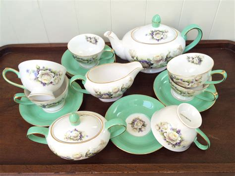 Cup Saucer Tea Set Cangkir Lepek Dengan Tutup Y85 Vicenza capodimonte tea set 17pc mint decoco
