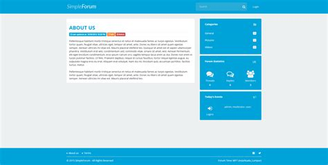 simple forum responsive bulletin board by tecdiary