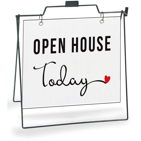 open house today cursive heart all things real estate