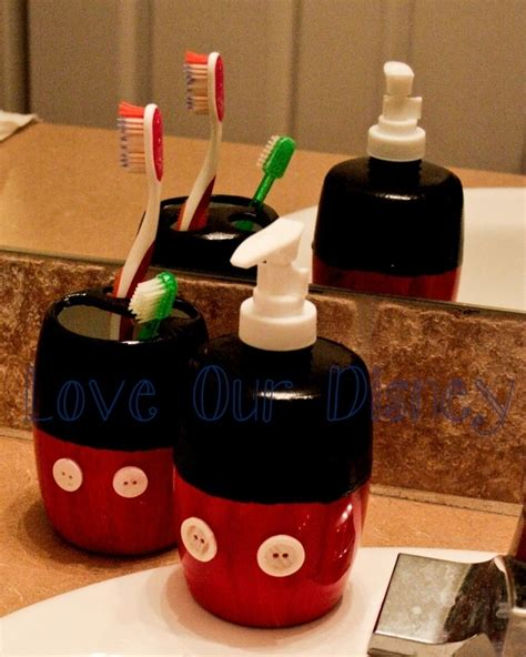 diy bathroom accessories diy mickey mouse bathroom supplies
