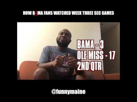 how alabama fans watched how bama fans watched the week three sec games youtube