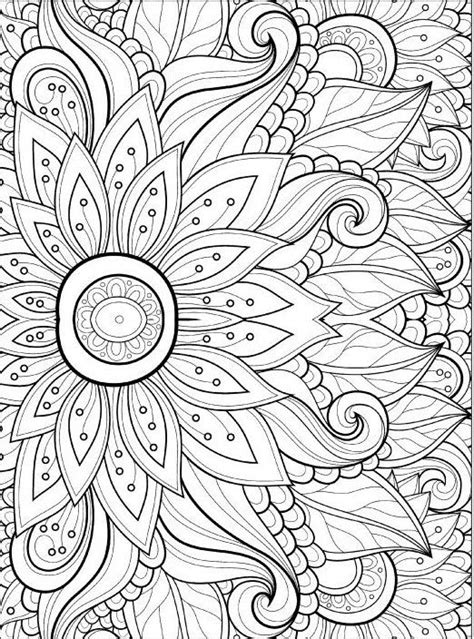 coloring book for adults flowers best 25 flower coloring pages ideas on