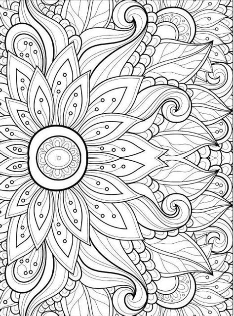 children\'s coloring pages flowers - Adult Coloring Pages Happy New ...