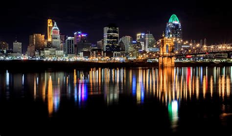 cincinnati skyline in colors photograph by keith