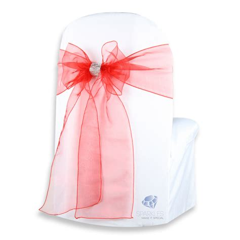 chair covers with bows 150 pcs organza chair cover bow sash 108 quot x8 quot w