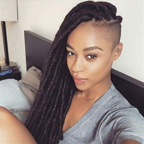 the cutlife shaved and braided on african american hair 31 faux loc styles for african american women african