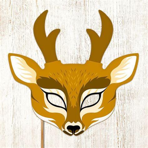 Printable Mask Of Deer | reindeer mask printable deer christmas animal by
