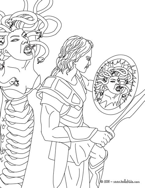 the gallery for gt medusa and perseus drawing