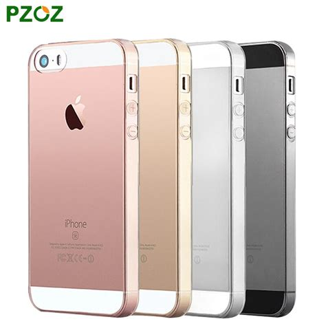 Pzoz Transparent Clear Soft Silicone For Iphone 55s pzoz for iphone 5s original for iphone 5 silicone cover slim transparent protection