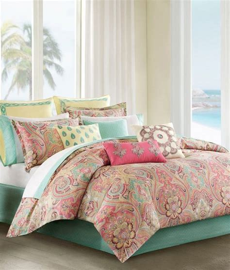 Hawaiian Bed Set Pink Pastel Hawaiian Tropical Bedding Set Bed In A Bag Beachfront Decor