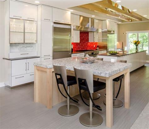 brick kitchen backsplash contemporary kitchen pinney modern kitchen with sleek white cabinets and red brick