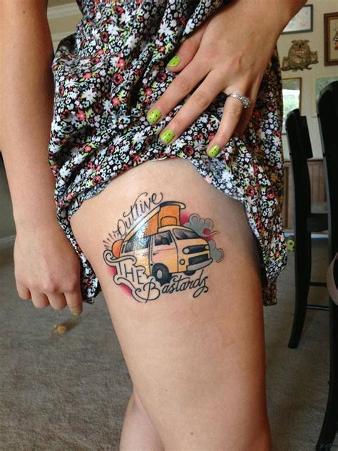 volkswagen bus tattoo outlive the bastards vw bus cing tattoos